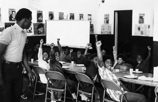Black Panther liberation school, a main instrument of counter-hegemony in African-American communities